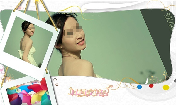 平面设计 其他 婚纱照|儿童写真 > 精美写真ps模板下载