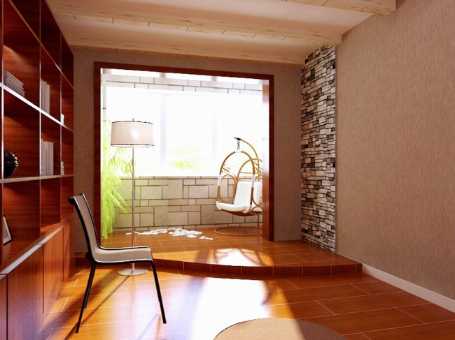 家庭装修设计书房阳台设计效果图