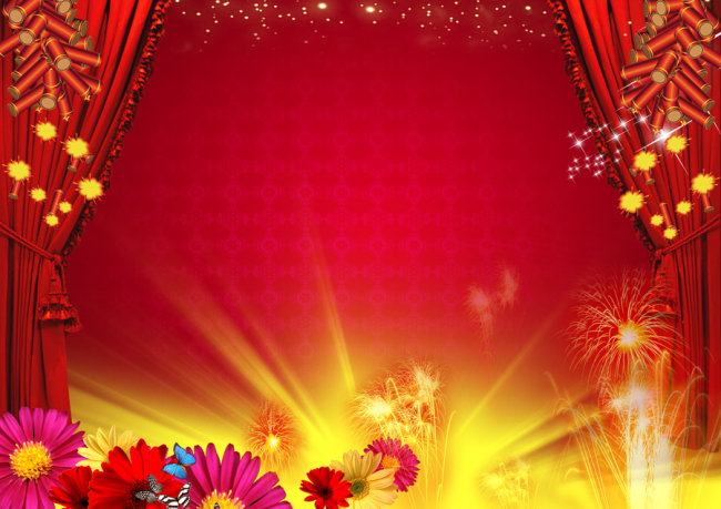 春节素材背景 春晚舞台背景春节联欢晚会 春节联欢晚会 舞台背景模板