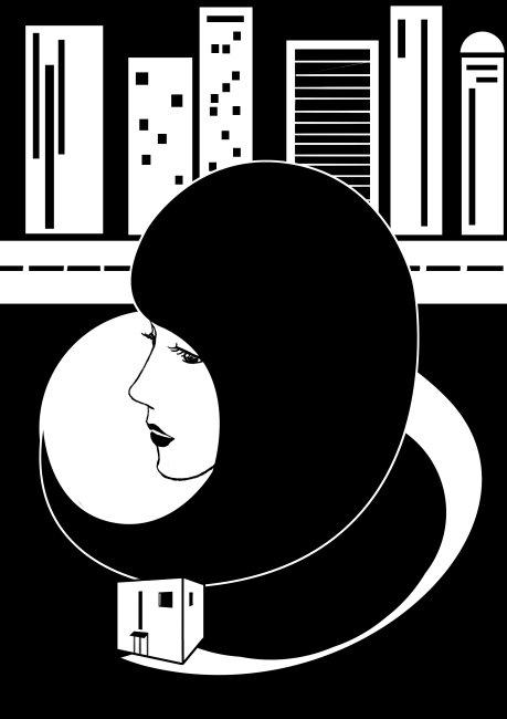 黑白映画模板下载 黑白映画图片下载 黑白 女人 城市 压力 蜗居 悲伤图片