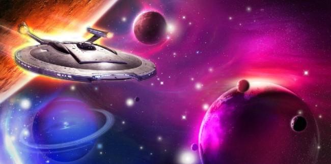 宇宙-飞船-星空