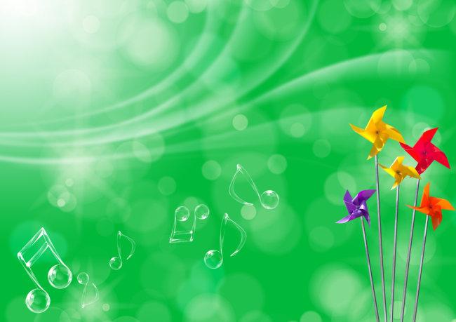 psd素材 ps背景图片素材库 背景图片素材 底板背景 音符 绿色绿色环保