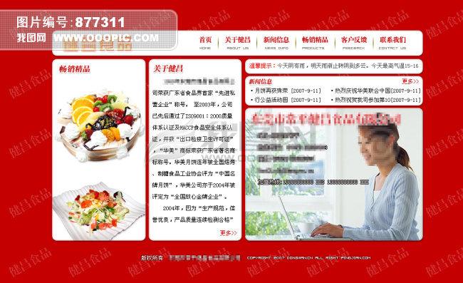 食品网站模板模板下载(图片编号:877311)_企业网站