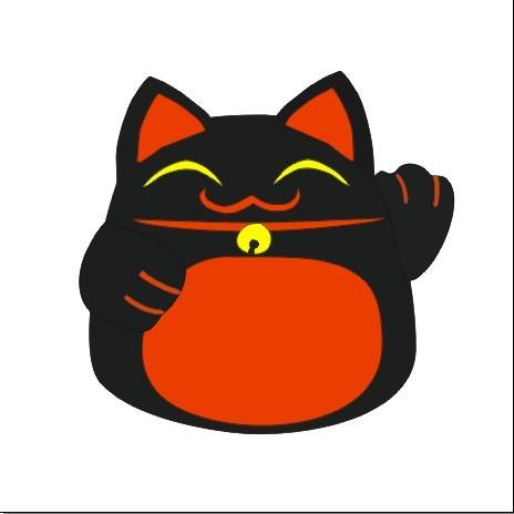 日本黑色招财猫模板下载(图片编号:883333)