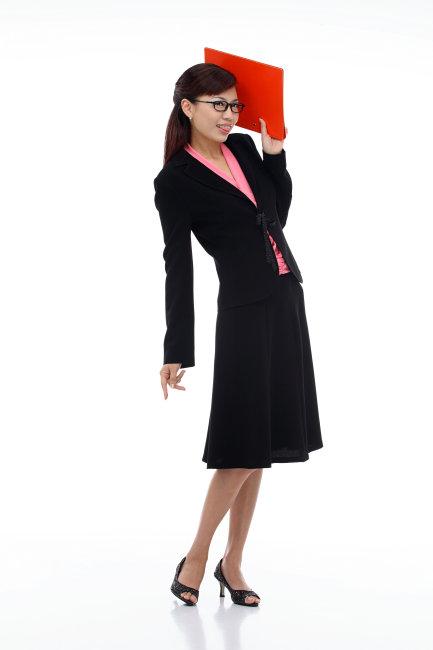 白色背景 工作服 女性 职业女性 上班族 西装 制服 单个物体 商务女人