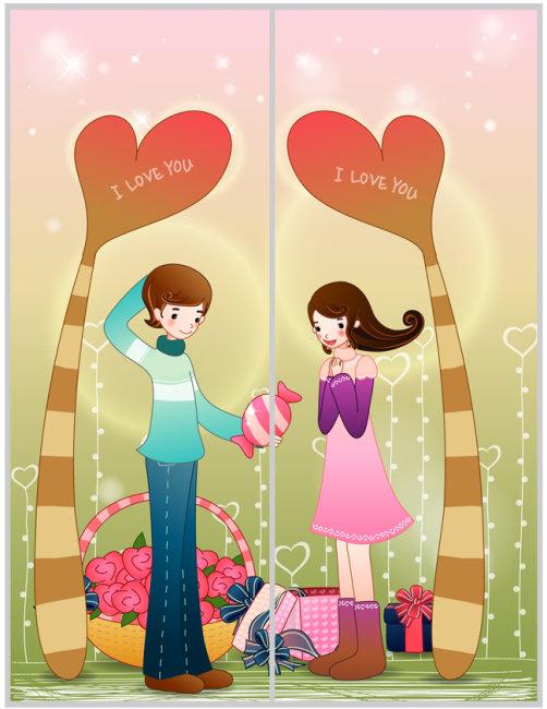 移门-爱情树下送糖果