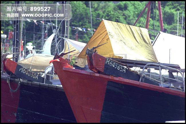 渔船简笔画彩色