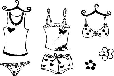 平面设计 其他 插画|元素|卡通 > 时尚内衣  下一张> [版权
