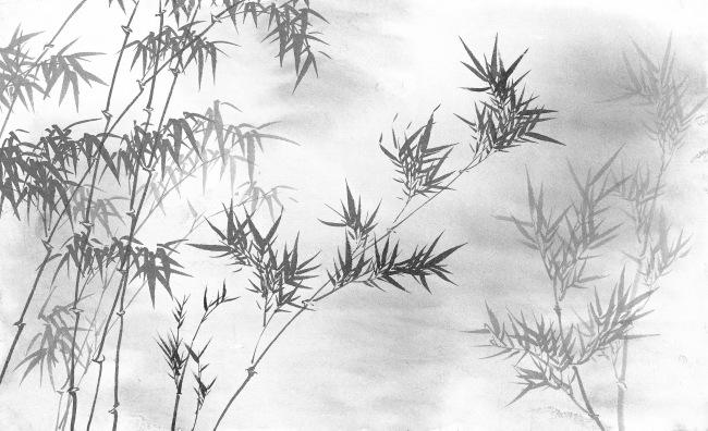 黑白高清竹林手绘