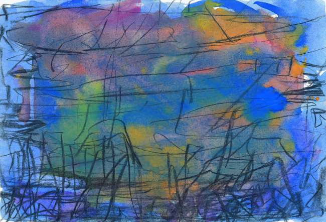 唯美 绘画作品 空间探索 美术工艺 艺术 时空 现代艺术 多色的 蓝色