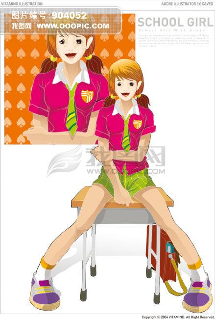 校园女孩模板下载 校园女孩图片下载