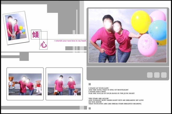 2010PSD倾心主题婚纱模版下载模板下载 924248 全家福 写真相册