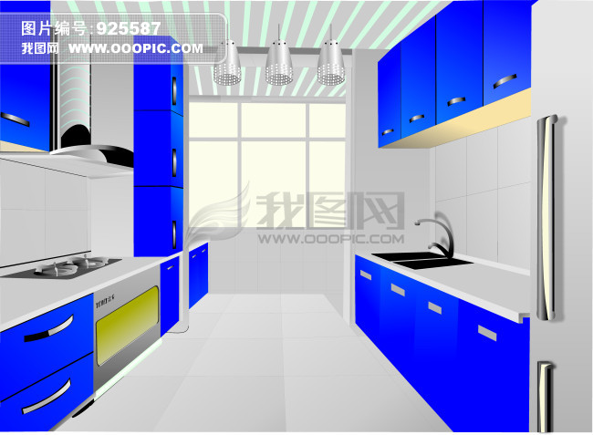 室内设计 > 手绘厨房