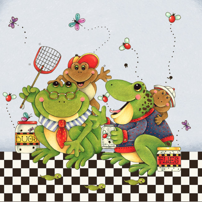 青蛙王国卡通b模板下载 青蛙王国卡通b图片下载 水彩笔手绘 青蛙王国