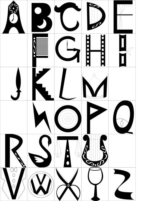 abcd字母艺术字设计
