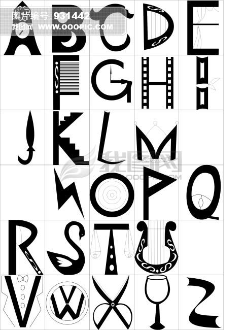 k字母黑白头像