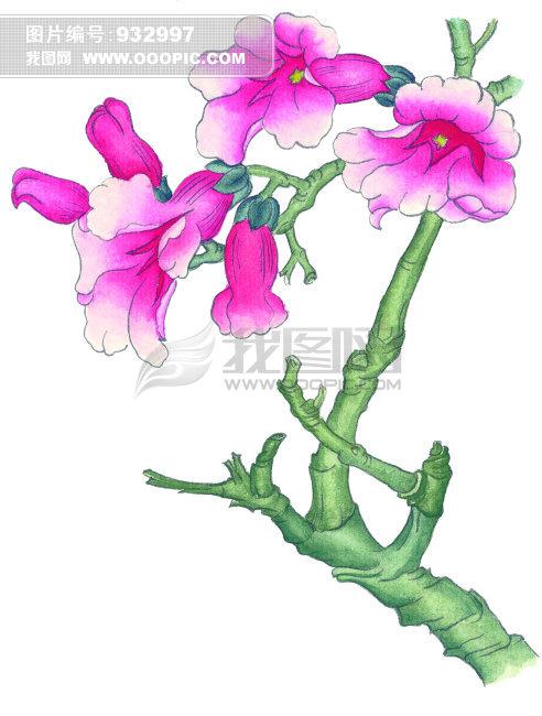 中国艺术花模板下载 中国艺术花图片下载 花 花朵 花叶 卡通 春天