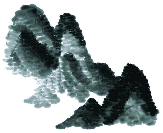 水墨画 水墨 插画 风景 美术 中国画 休闲 艺术 中国风竖图 彩色图片