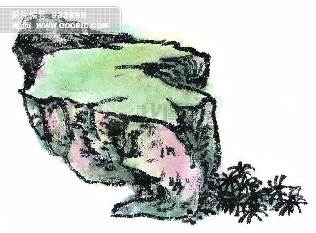 国画写意石头画法_国画水仙花的画法