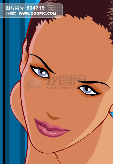 卡通美女图片下载