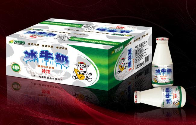 冰牛奶包装箱模板下载 冰牛奶包装箱图片下载 包装设计 包装箱 牛奶