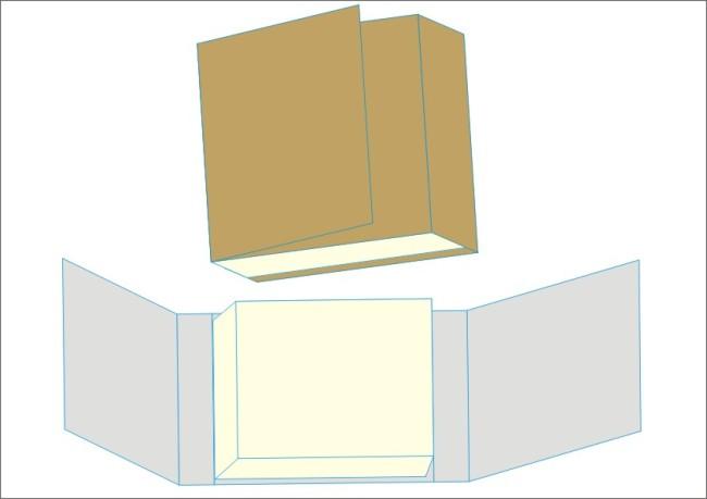 礼品纸盒的折法步骤图