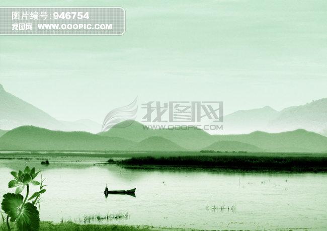 [psd]古典中国风水墨风景高清背景图psd下载