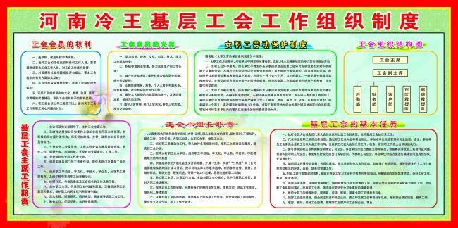 展板图片下载 工会会员的权利 工会会员的义务 女职工劳动保护制度