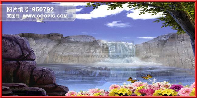 精美壁画模板下载 精美壁画图片下载 精美壁画 风景 大树 ...
