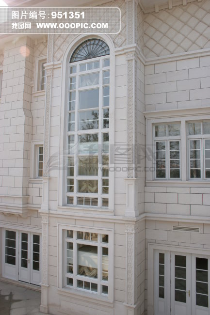 欧式别墅门窗特写图片下载