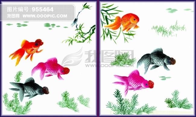 金鱼插画素材模板下载(图片编号:955464)