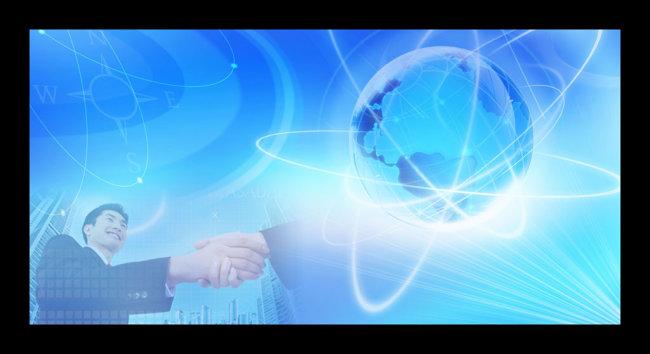 蓝色科技展板背景psd免费下载模板下载