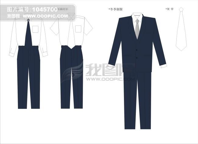 服装设计之男职业装设计矢量图图片下载吧设计公司清图片