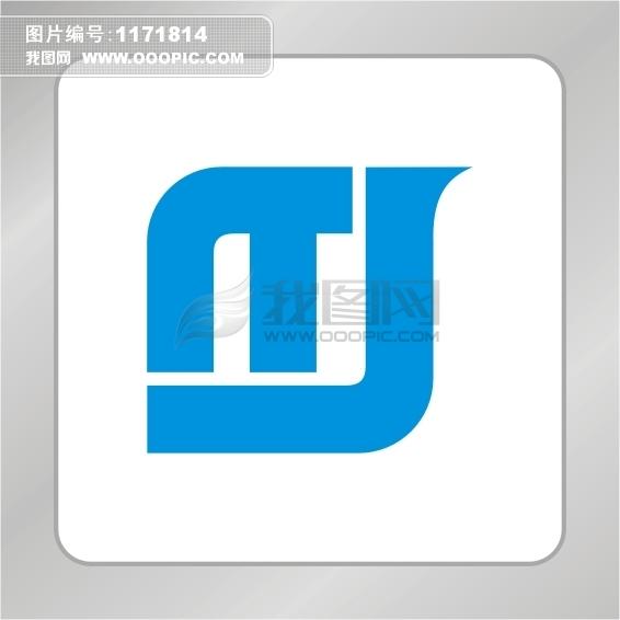 T J字母标志logo设计