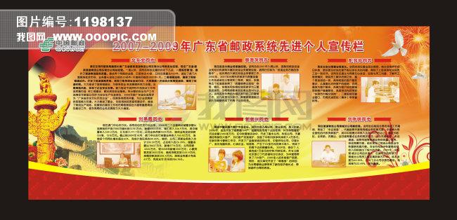 邮政局年度优秀员工宣传栏设计模板