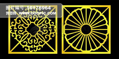 祥瑞麒麟神兽镂空图案金属材质图片下载 矢量玫瑰镂空雕花图案图片