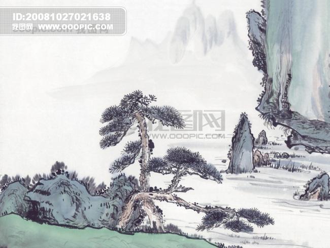 艺术 峰回路转/山沟 山脉 峰回路转山峰山峦山顶中华艺术绘画