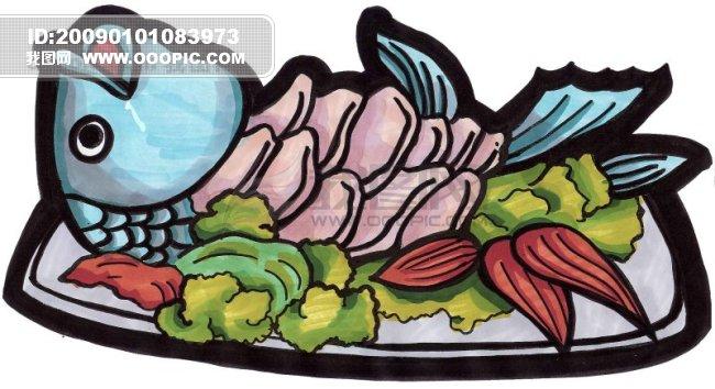 手绘食物马克笔