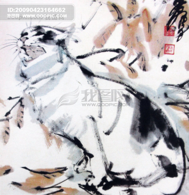 中国名画 古画 绘画 著名 有名 国画 水墨 广告素材大辞典