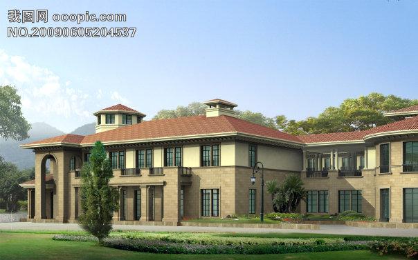 3dmax 市郊别墅效果图 图片下载 高清图片