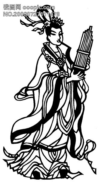 黑白剪纸图_传统文化图片