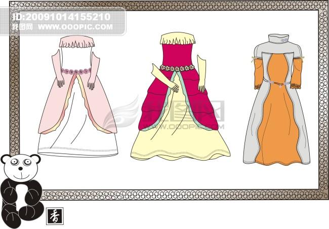 礼服设计_礼服设计手稿_婚纱礼服设计图片手画