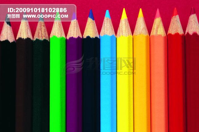 特写 文化用品 彩色铅笔/文化用品/彩色铅笔特写