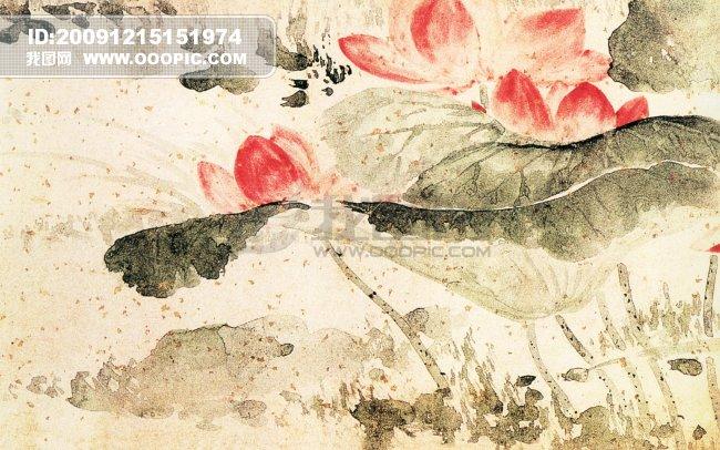 ...传世名画 花图片下载 荷花 王问 中国传世名画 花鸟画 古典花...