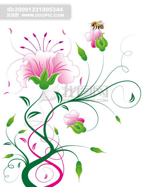 西式花纹手绘_手绘藤蔓花纹素材