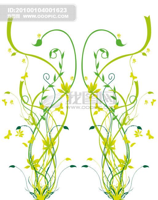欧式玫瑰花藤矢量图