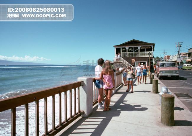 海岛风情 旅游 观光 风情海边 比基尼美女 泳装 海浪