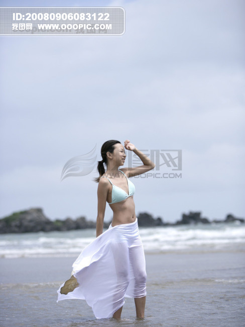 在海边清纯女生qq头像