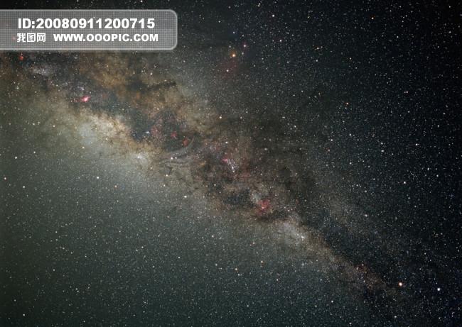 繁星夜空唯美图片大全 繁星点点的夜空摄影模板psd素