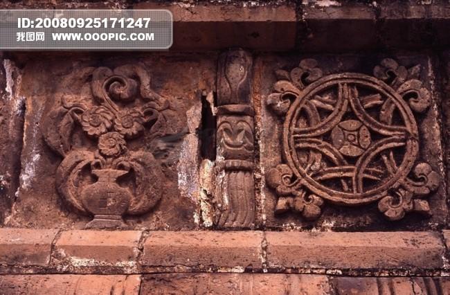 中国 雕刻 艺术 花纹 石雕